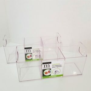 MDesign Pack of 2 Clear caddy Organizers